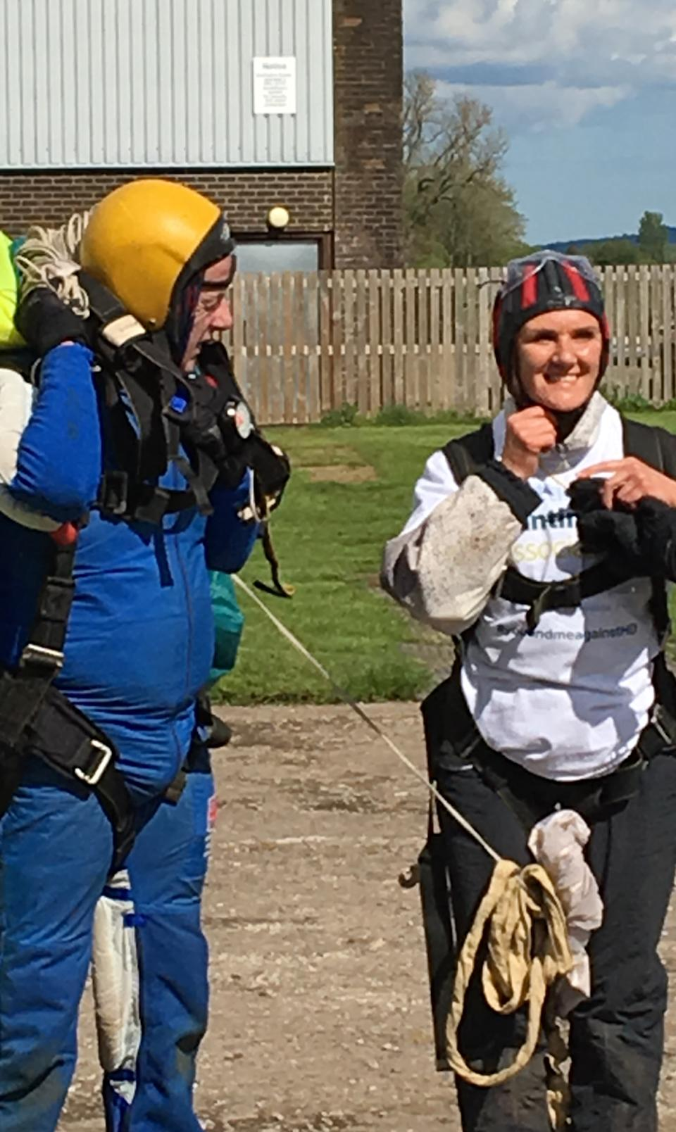 Gillian raised £6,000 for charity during her skydive. (Collect/PA Real Life)