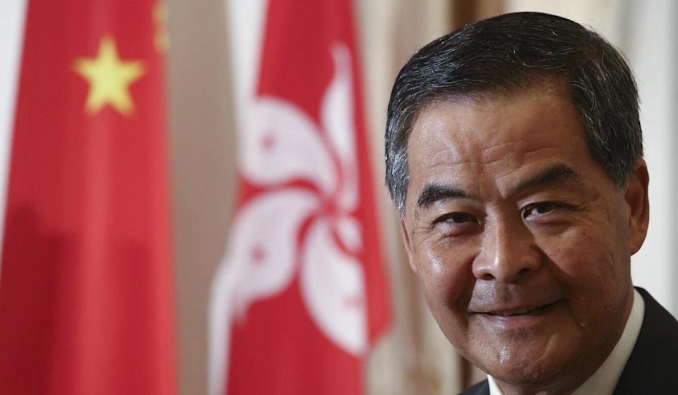 Former Hong Kong chief executive Leung Chun-ying has been one of Apple Daily's harshest critics. Photo: Nora Tam
