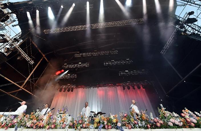 Faith No More performs at the Hellfest heavy metal and hard rock music festival Hellfest in Clisson, western France on June 20, 2015 (AFP Photo/Georges Gobet)