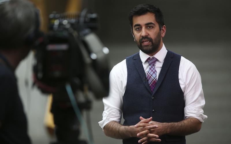Humza Yousaf, the SNP Justice Secretary, was backed by ministers in Cardiff and Belfast - Pool/Getty