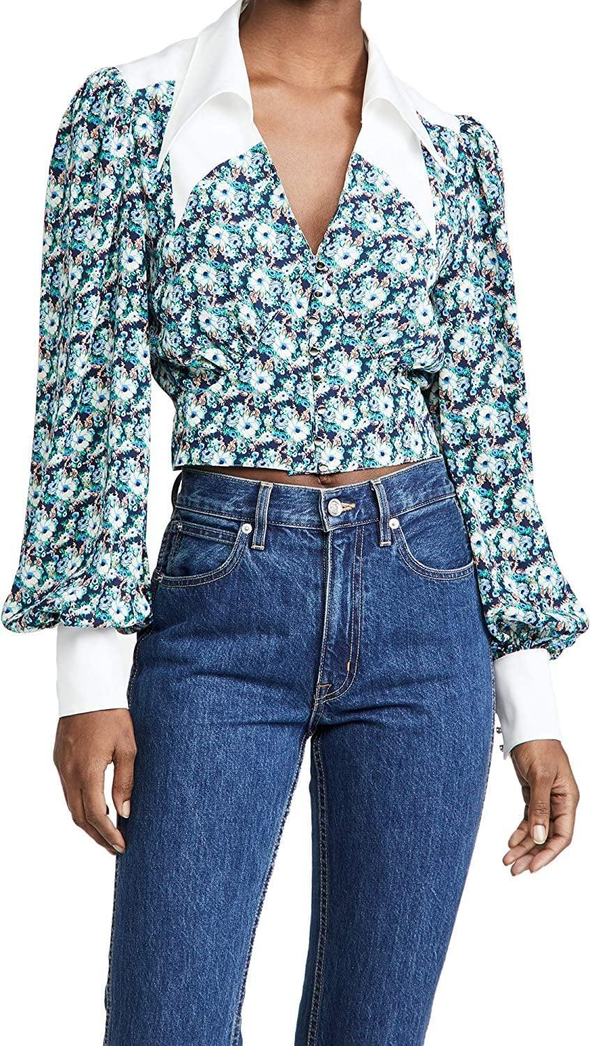 <p>This statement <span>Endless Rose Floral Collar Detail Shirt</span> ($49) will turn heads wherever you go.</p>