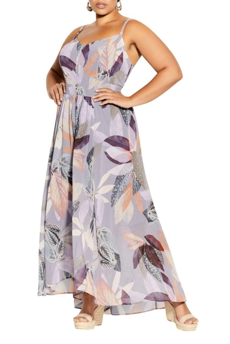 <p>This flowy <span>City Chic Paradise Palm Maxi Dress</span> ($119) is perfect for park strolls. </p>
