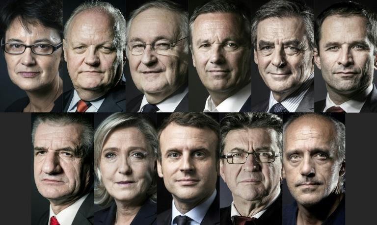 Eleven candidates are running in France's 2017 presidential election, which will hold its first round on April 23, 2017