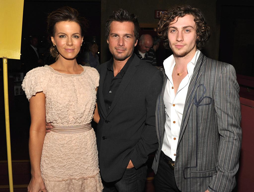 "<a href=""http://movies.yahoo.com/movie/contributor/1800020790"">Kate Beckinsale</a>, <a href=""http://movies.yahoo.com/movie/contributor/1808458111"">Len Wiseman</a> and <a href=""http://movies.yahoo.com/movie/contributor/1808440454"">Aaron Johnson</a> at the Los Angeles screening of <a href=""http://movies.yahoo.com/movie/1810073977/info"">Nowhere Boy</a> on September 30, 2010."