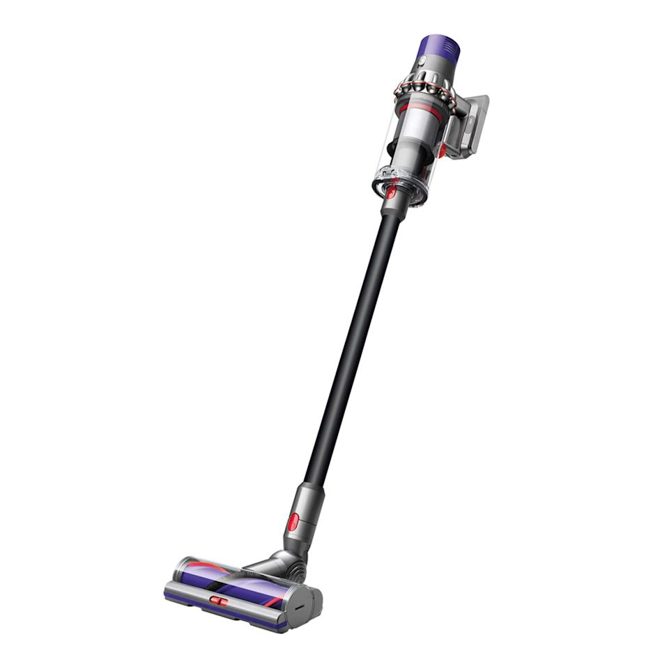 """The Dyson hype is definitely real, and this cordless vacuum will help keep her space tidy and dust-free without weighing a ton. $550, Dyson. <a href=""""https://www.dyson.com/vacuum-cleaners/sticks/dyson-cyclone-v10-stick/dyson-cyclone-v10-absolute-black"""" rel=""""nofollow noopener"""" target=""""_blank"""" data-ylk=""""slk:Get it now!"""" class=""""link rapid-noclick-resp"""">Get it now!</a>"""