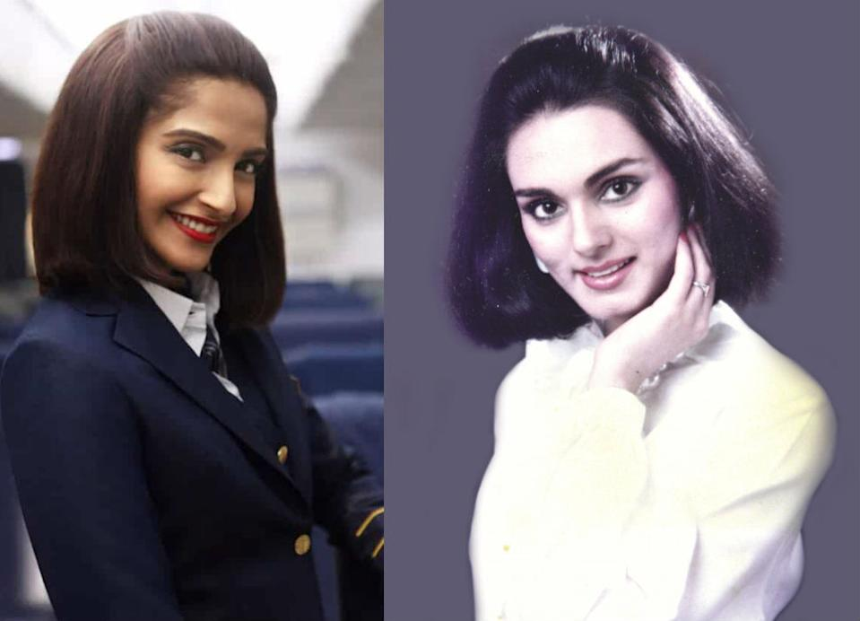 Sonam Kapoor portrays the brave Neerja Bhanot, who sacrificed her life while protecting the lives of 359 passengers on the Pan Am flight 73 in 1986, when the flight was hijacked by a terrorist organization.