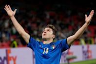 Federico Chiesa scored two of his three Italy goals at Euro 2020
