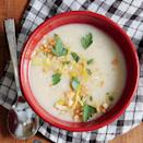 """<p>This <a href=""""https://www.myrecipes.com/soup-recipes"""" rel=""""nofollow noopener"""" target=""""_blank"""" data-ylk=""""slk:soup"""" class=""""link rapid-noclick-resp"""">soup</a> is surprisingly mellow; the garlic truly softens in flavor as it cooks.</p>"""