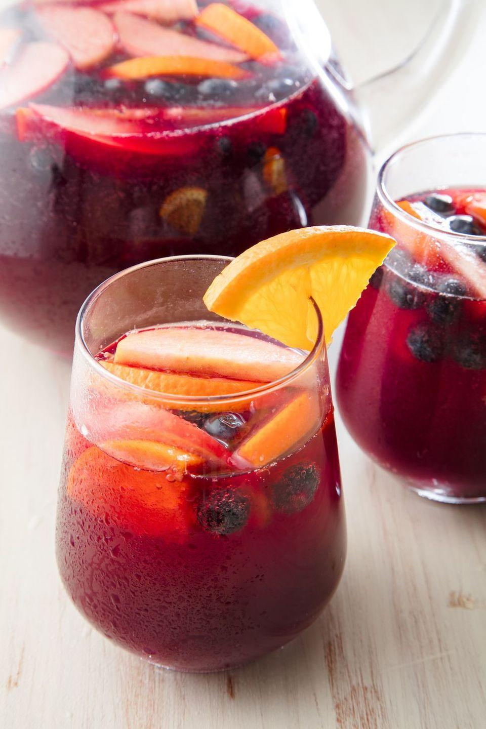 """<p>No one can turn down a good Sangria. </p><p>Get the recipe from <a href=""""https://www.delish.com/cooking/recipe-ideas/a19601715/easy-red-sangria-recipe/"""" rel=""""nofollow noopener"""" target=""""_blank"""" data-ylk=""""slk:Delish"""" class=""""link rapid-noclick-resp"""">Delish</a>. </p>"""