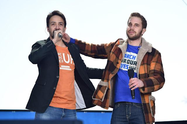 <p>Lin-Manuel Miranda and Ben Platt perform onstage at March For Our Lives in Washington, D.C. (Photo: Getty Images) </p>