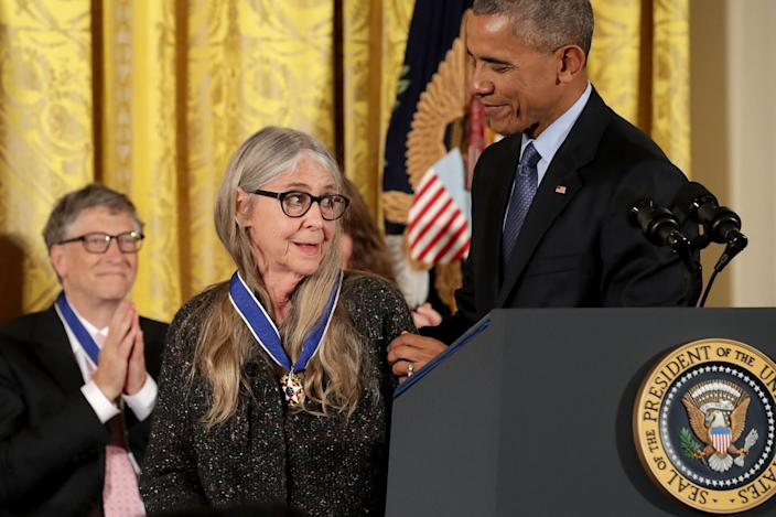 <p>President Obama awards the Presidential Medal of Freedom to NASA mathematician and computer software pioneer Margaret Hamilton during a ceremony in the East Room of the White House, Nov. 22, 2016. (Chip Somodevilla/Getty Images) </p>