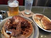 """<p><a href=""""https://www.tripadvisor.com/Restaurant_Review-g49463-d2281435-Reviews-Beasley_s_Chicken_Honey-Raleigh_North_Carolina.html"""" rel=""""nofollow noopener"""" target=""""_blank"""" data-ylk=""""slk:Beasley's Chicken + Honey"""" class=""""link rapid-noclick-resp"""">Beasley's Chicken + Honey</a>, Raleigh</p><p>Obviously the fried chicken! Chicken biscuit is tops. Chicken and waffle is a strong 2nd. Batter contains honey. Succulent chicken. Sides have different twists on seemingly traditional offerings.<span class=""""redactor-invisible-space""""> - Foursquare user <a href=""""https://foursquare.com/paulpapa19"""" rel=""""nofollow noopener"""" target=""""_blank"""" data-ylk=""""slk:Paul Papadoulias"""" class=""""link rapid-noclick-resp"""">Paul Papadoulias</a></span><br></p>"""