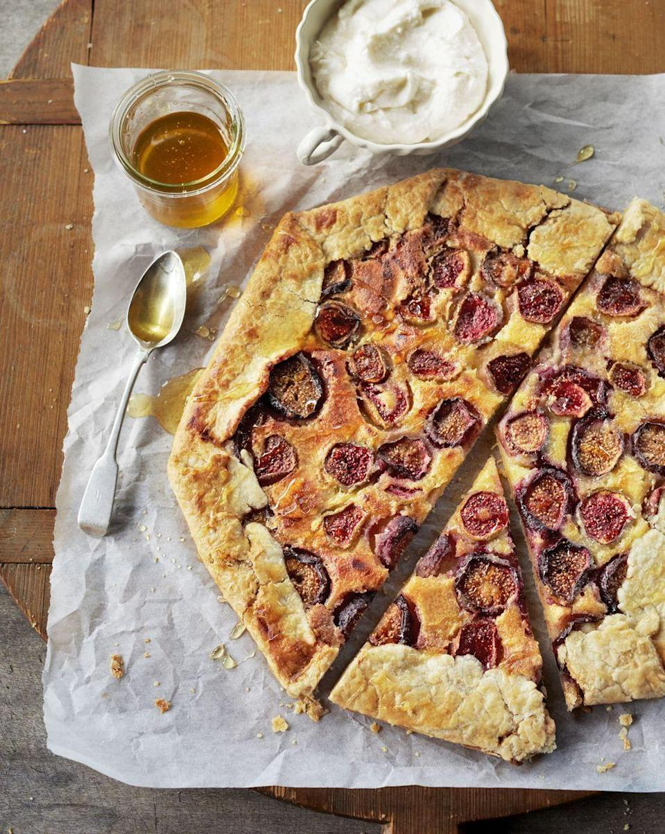 "<p>An ultimate trio of sweet honey, creamy ricotta, and fresh figs make this crostata tart the most satisfying snack ever. </p><p><em><a href=""https://www.countryliving.com/food-drinks/recipes/a5411/fresh-fig-crostata-ricotta-honey-recipe-clx0714/"" rel=""nofollow noopener"" target=""_blank"" data-ylk=""slk:Get the recipe from Country Living »"" class=""link rapid-noclick-resp"">Get the recipe from Country Living »</a></em> <br></p><p><strong>RELATED: </strong><a href=""https://www.goodhousekeeping.com/food-recipes/healthy/g845/healthy-appetizers/"" rel=""nofollow noopener"" target=""_blank"" data-ylk=""slk:33 Easy, Healthy Appetizers That Are Delicious and Filling"" class=""link rapid-noclick-resp"">33 Easy, Healthy Appetizers That Are Delicious and Filling</a></p>"