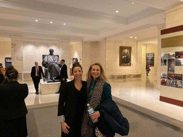 PHOTO: Kim O'Brien, right, poses with a friend at the U.S. Supreme Court in Washington, D.C. (Kim O'Brien)