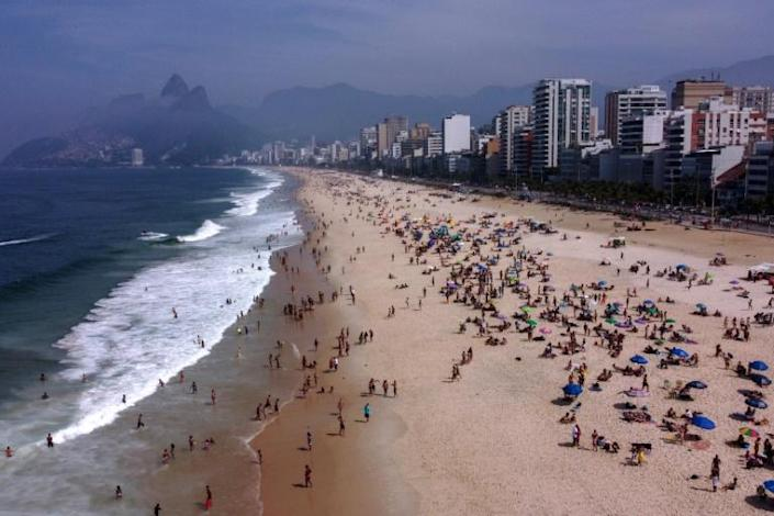 In Brazil's largest cities shops, schools, cinemas and gyms have reopened, and bars, restaurants and are beaches like Ipanema in Rio de Janeiro are regularly packed with crowds