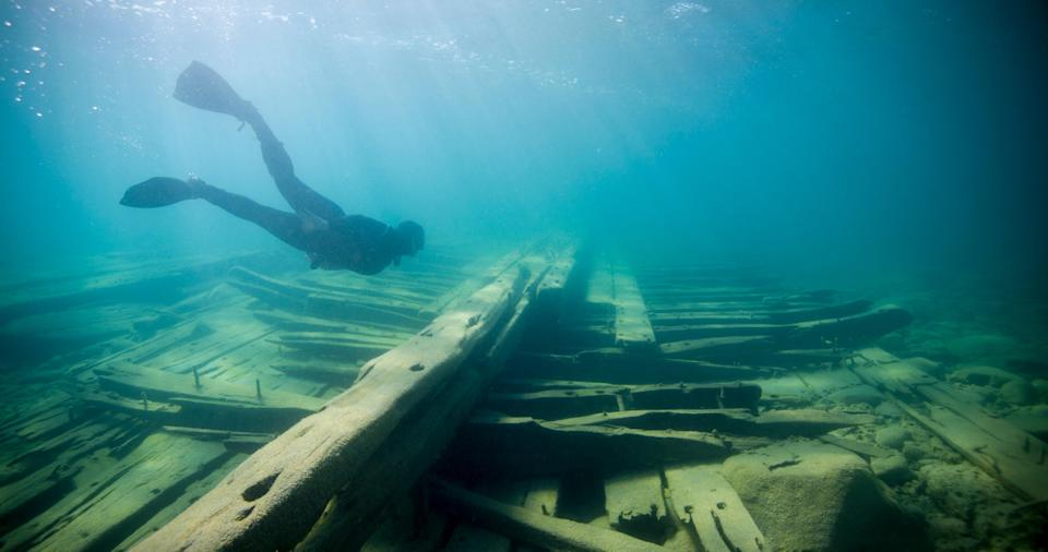 Travelers can typically explore nearly 200 shipwrecks in Alpena, Michigan's Thunder Bay National Marine Sanctuary.