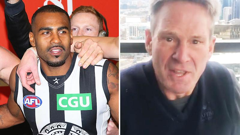 Pictured here, AFL great Heritier Lumumba and former Channel Nine identity Sam Newman.