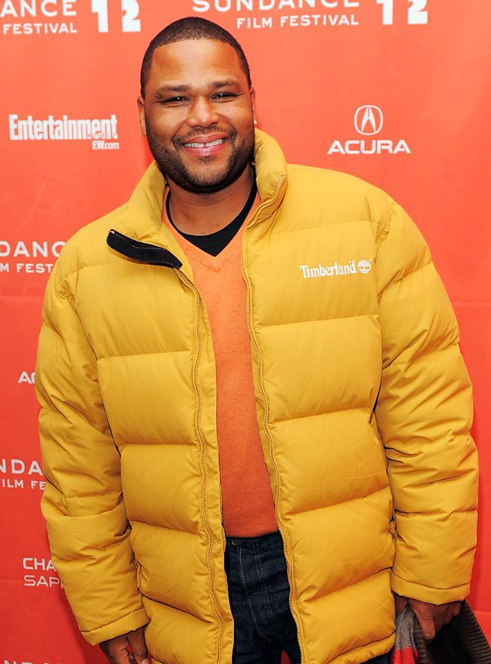 "PARK CITY, UT - JANUARY 24:  Actor Anthony Anderson attends the ""GOATS"" premiere during the 2012 Sundance Film Festival held at Eccles Center Theatre on January 24, 2012 in Park City, Utah.  (Photo by Jemal Countess/Getty Images)"