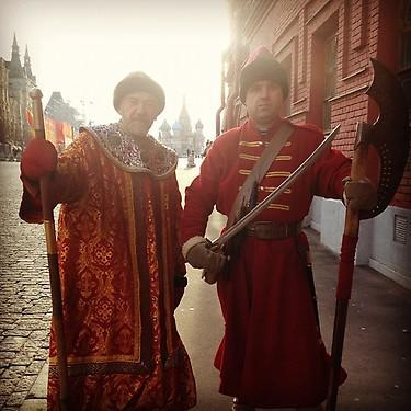 Old-school Russian garb. (#NickInEurope)