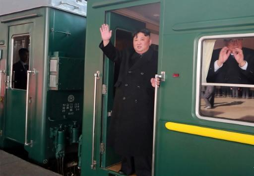 Kim Jong Un departed from the Pyongyang railway station for what could be a 60-hour journey to Vietnam