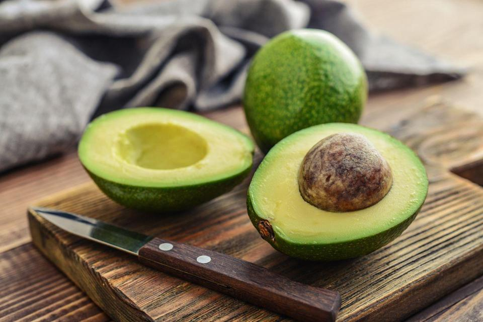 """<p>Creamy avocado is a great source of calcium, magnesium, and potassium. One avocado contains about 975 milligrams of potassium, which is about 25 percent of your daily intake. </p><p><strong>Try it:</strong> Enjoy <a href=""""https://www.prevention.com/food-nutrition/recipes/a25049025/jillian-michaels-avocado-toast-recipe/"""" rel=""""nofollow noopener"""" target=""""_blank"""" data-ylk=""""slk:avocado toast"""" class=""""link rapid-noclick-resp"""">avocado toast</a> or mix it with tuna instead of mayo for a protein-rich sandwich and salad topper. <br></p>"""
