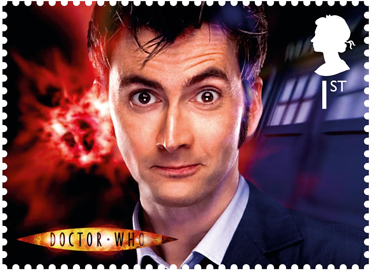 David Tennant, a fan favourite, played the Doctor for five years from 2005 to 2010 (Royal Mail)