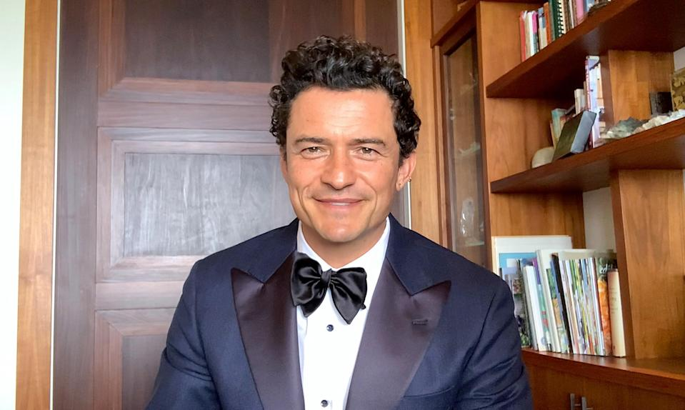 Orlando Bloom during the Critics Choice Awards, March 07, 2021.