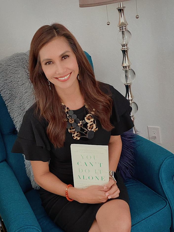 """Maria Quiban Whitesell, the Fox11 weather anchor and author of the new book, """"You Can't Do It Alone: A Widow's Journey through loss, grief and life after."""""""