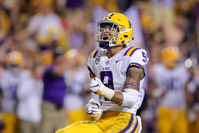 LSU safety Grant Delpit emerged as one of the best players in the country in 2018. (Photo by Stephen Lew/Icon Sportswire via Getty Images)