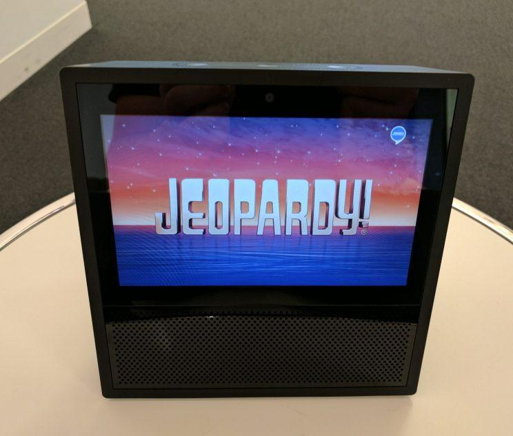 Playing Jeopardy on the Echo Show.