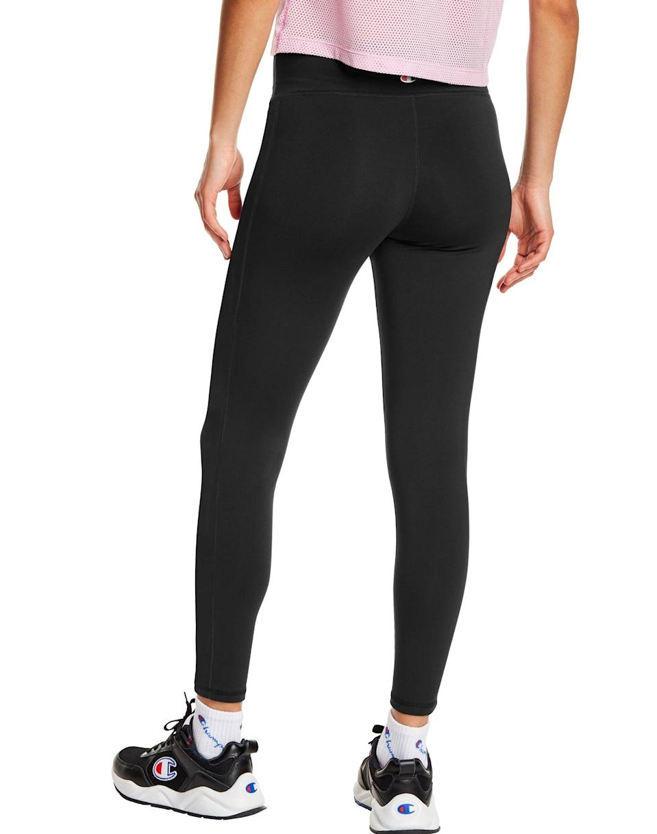 """<p>""""When I think about my favorite leggings, they all have one thing in common: they're comfortable. Lately, I'm living in my <span>Champion Ultra High-Rise Full Length Tights</span> ($40, originally $50). I love to wear this pair for walking, running, my go-to HIIT videos, and honestly, even just working from home. The material is soft and doesn't dig into my skin or make me feel like I want to rip them off. I also find them extremely flattering and the fit is secure, but not too tight."""" - KJ</p> <p>Read the full <a href=""""https://www.popsugar.com/fitness/champion-high-rise-leggings-review-47487910"""" class=""""link rapid-noclick-resp"""" rel=""""nofollow noopener"""" target=""""_blank"""" data-ylk=""""slk:Champion Ultra High-Rise Full Length Tights review"""">Champion Ultra High-Rise Full Length Tights review</a>.</p>"""