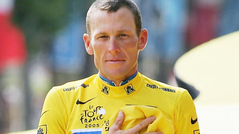 Lance Armstrong, pictured here on the podium at the Tour de France in 2005.