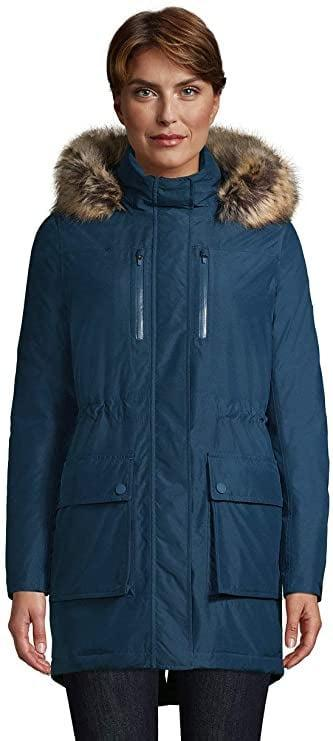 <p>The <span>Lands' End Expedition Waterproof Down Winter Parka With Faux-Fur Hood</span> ($210) will be your lifesaver for the cold weather.</p>