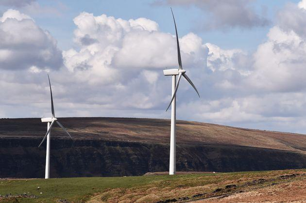 A windfarm in Burnley (Photo: Nathan Stirk via Getty Images)