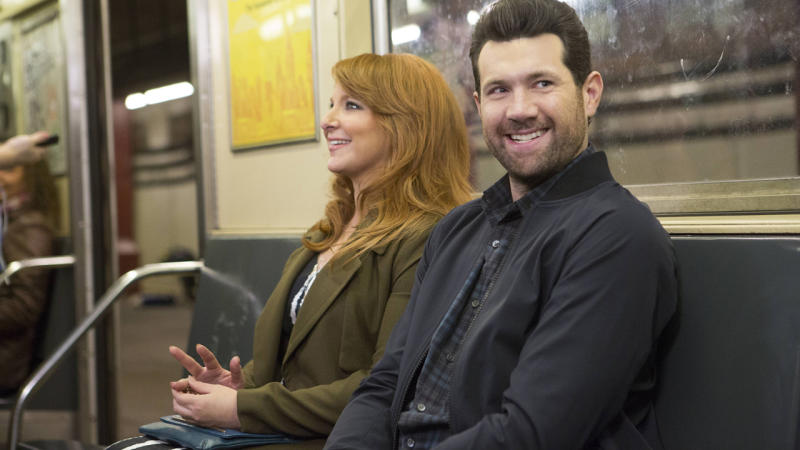 Julie Klausner and Billy Eichner in 'Difficult People' (Photo: Hulu)