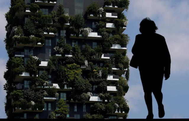 "The ""Bosco Verticale"" (Vertical Forest) residential tower at the Porta Nuova district is seen in Milan, Italy, May 18, 2018. REUTERS/Stefano Rellandini TPX IMAGES OF THE DAY"