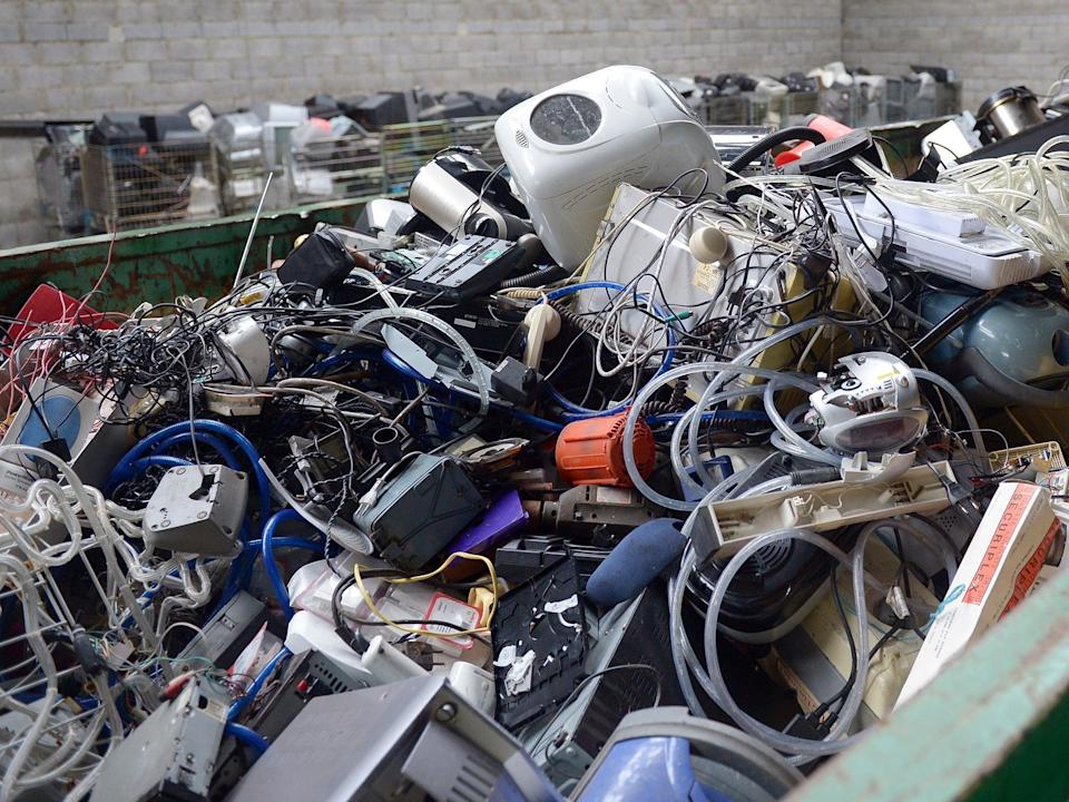 <p>The UK is responsible for producing the second-highest amount of e-waste per person in the world</p> (Getty)