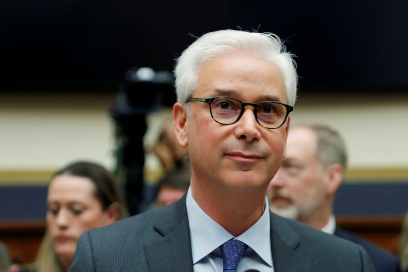 FILE PHOTO: Wells Fargo CEO Charlie Scharf testifies before a House Financial Services Committee on Capitol Hill in Washington, U.S.
