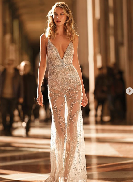 Could you sashay down the aisle in this slinky number? Photo: Instagram/ Bertabridal