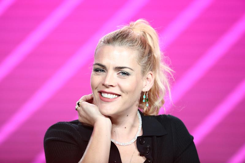 """PASADENA, CALIFORNIA - JANUARY 29: Busy Philipps speaks on the """"Busy Tonight"""" panel during the NBCUniversal portion of the Television Critics Association Winter Press Tour at The Langham Huntington, Pasadena on January 29, 2019 in Pasadena, California. (Photo by Frederick M. Brown/Getty Images) ORG XMIT: 775283183 ORIG FILE ID: 1126008800"""