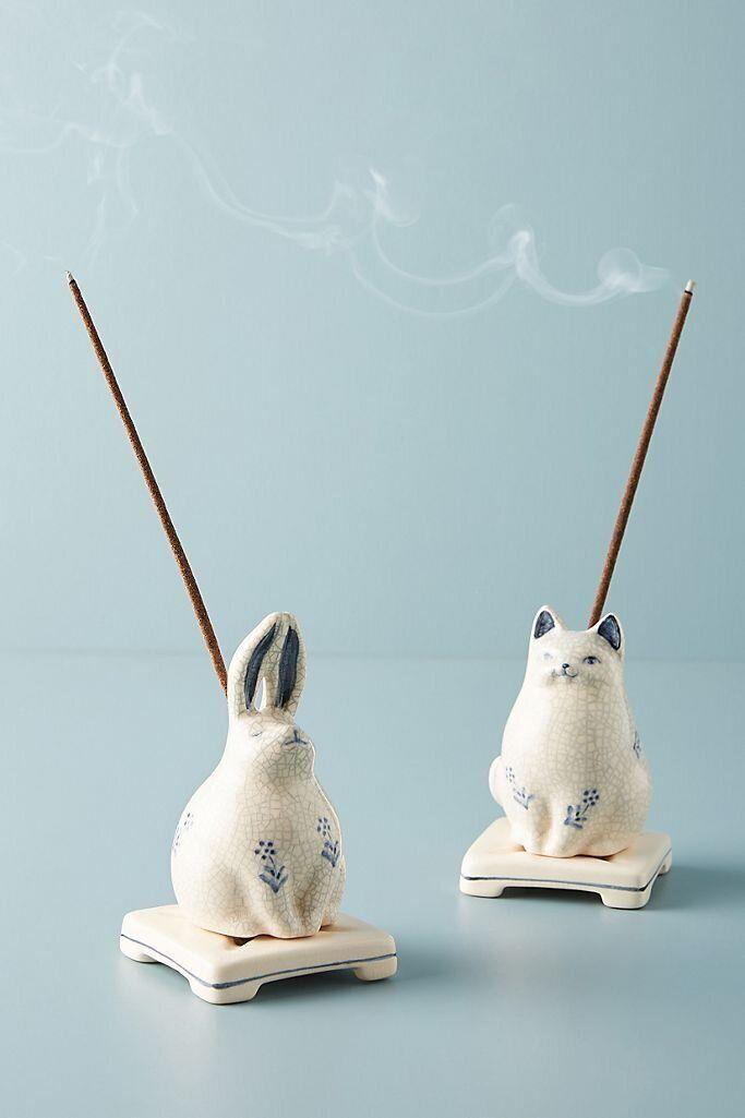 """Not into candles? These cute critters can hold your incense so your room still smells like your favorite scent.<a href=""""https://fave.co/2TfCgd7"""" target=""""_blank"""" rel=""""noopener noreferrer"""">Find it for $34 at Anthropologie</a>."""