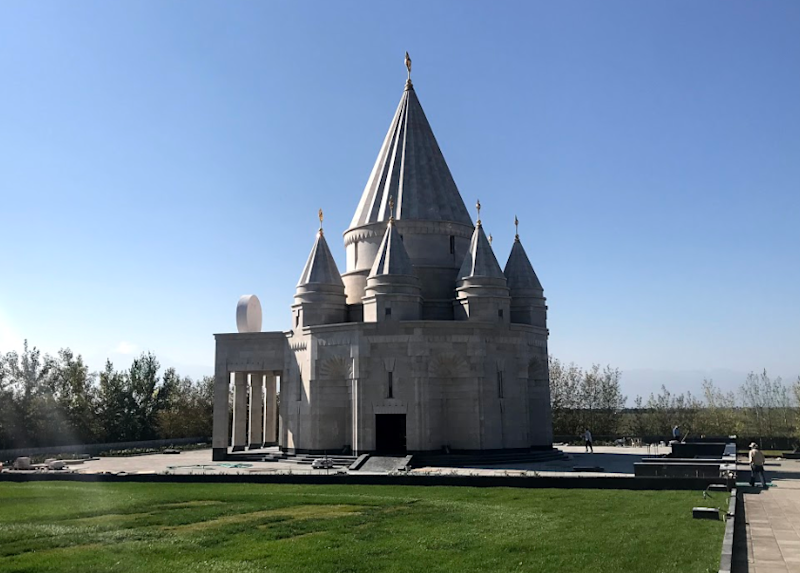 The Quba Mere Diwane structure in Armenia is the biggest Yazidi temple in the world: Photography by Lemma Shehadi/The Independent