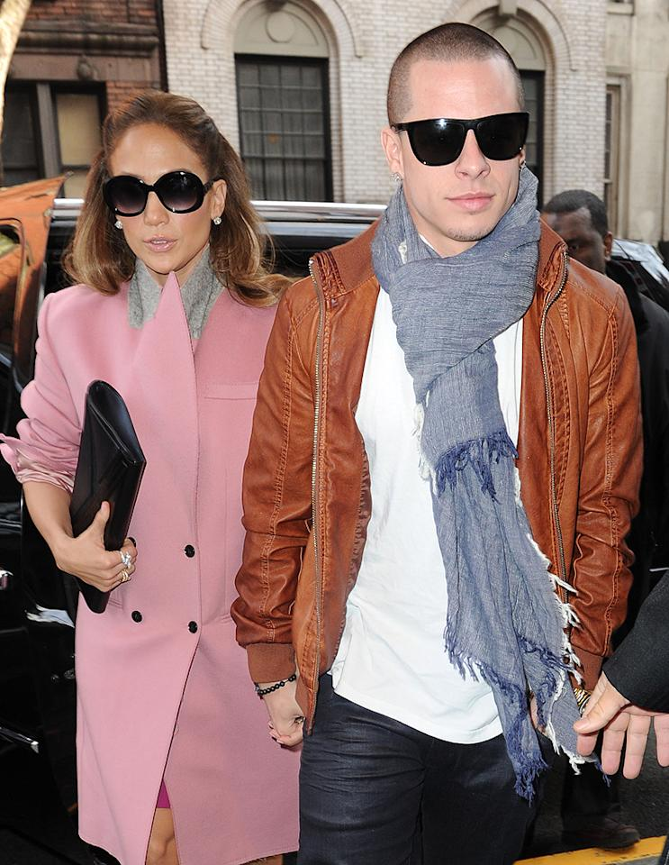 Former Fly Girl Jennifer Lopez has a thing for her backup dancers. After marrying one -- her second husband, Cris Judd -- she's now dating another from her most recent tour, Casper Smart, following her split from third husband Marc Anthony. The twosome have been inseparable since the fall, and Lopez has already introduced her beau to her kids, 4-year-old twins Max and Emme. (1/31/2012)