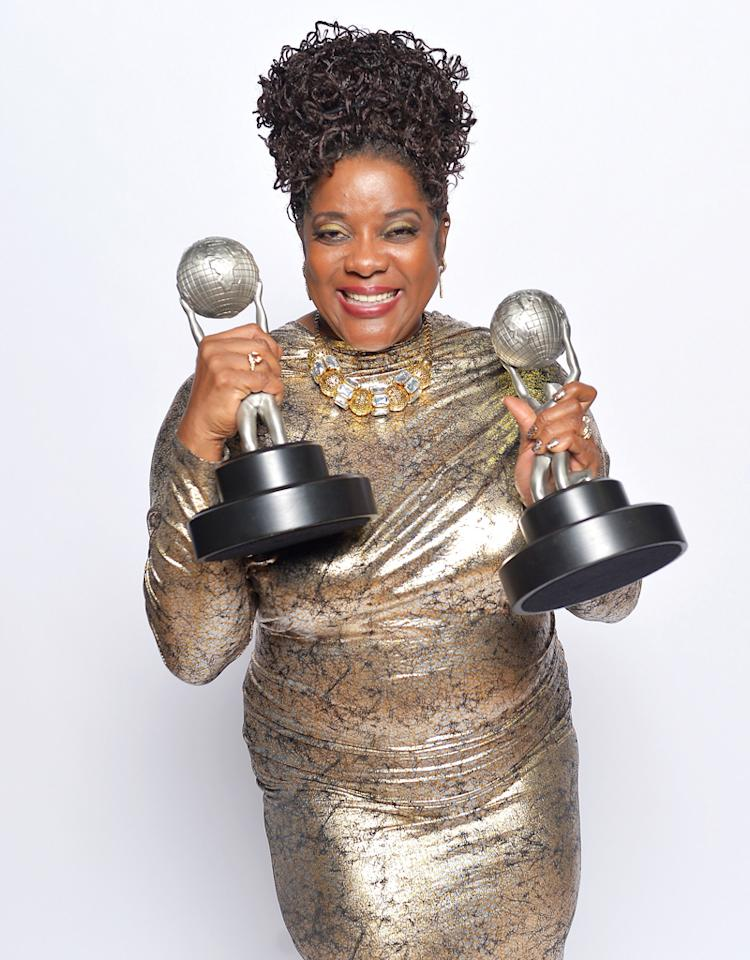 "LOS ANGELES, CA - FEBRUARY 01:  Actress Loretta Devine, winner of Outstanding Supporting Actress in a Drama Series for ""Grey's Anatomy"", poses for a portrait during the 44th NAACP Image Awards at The Shrine Auditorium on February 1, 2013 in Los Angeles, California.  (Photo by Charley Gallay/Getty Images for NAACP Image Awards)"