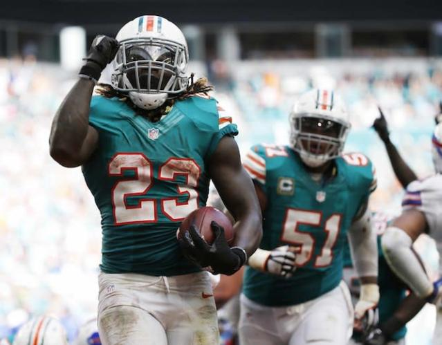 "The arrow is pointing up for <a class=""link rapid-noclick-resp"" href=""/nfl/players/28537/"" data-ylk=""slk:Jay Ajayi"">Jay Ajayi</a> after a superb 2016. (AP)"