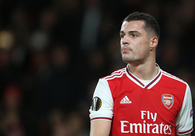 Granit Xhaka falling out with fans was symptomatic of the atmosphere which developed under Emery. (Photo by Rob Newell - CameraSport via Getty Images)