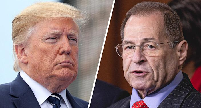 President Trump and Rep. Jerry Nadler, chairman of the House Judiciary Committee. (Photos: Chris Jackson-WPA Pool/Getty Images, Cheriss May/NurPhoto via Getty Images)
