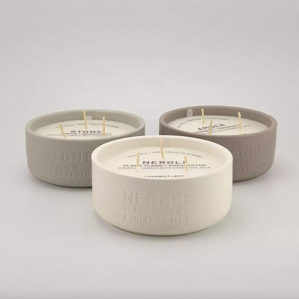 <p>This <span>3-Wick Candle Neroli Ylang Ylang &amp; Eucalyptus Candle</span> ($13) is simple, subtle, and so chic. It can also burn for 25 hours!</p>