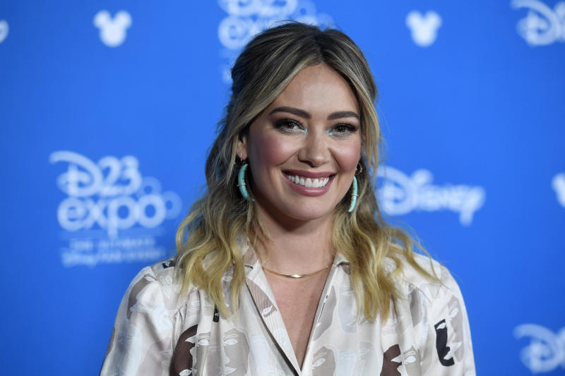 ANAHEIM, CALIFORNIA - AUGUST 23: Hilary Duff attends D23 Disney+ Showcase at Anaheim Convention Center on August 23, 2019 in Anaheim, California. (Photo by Frazer Harrison/Getty Images)