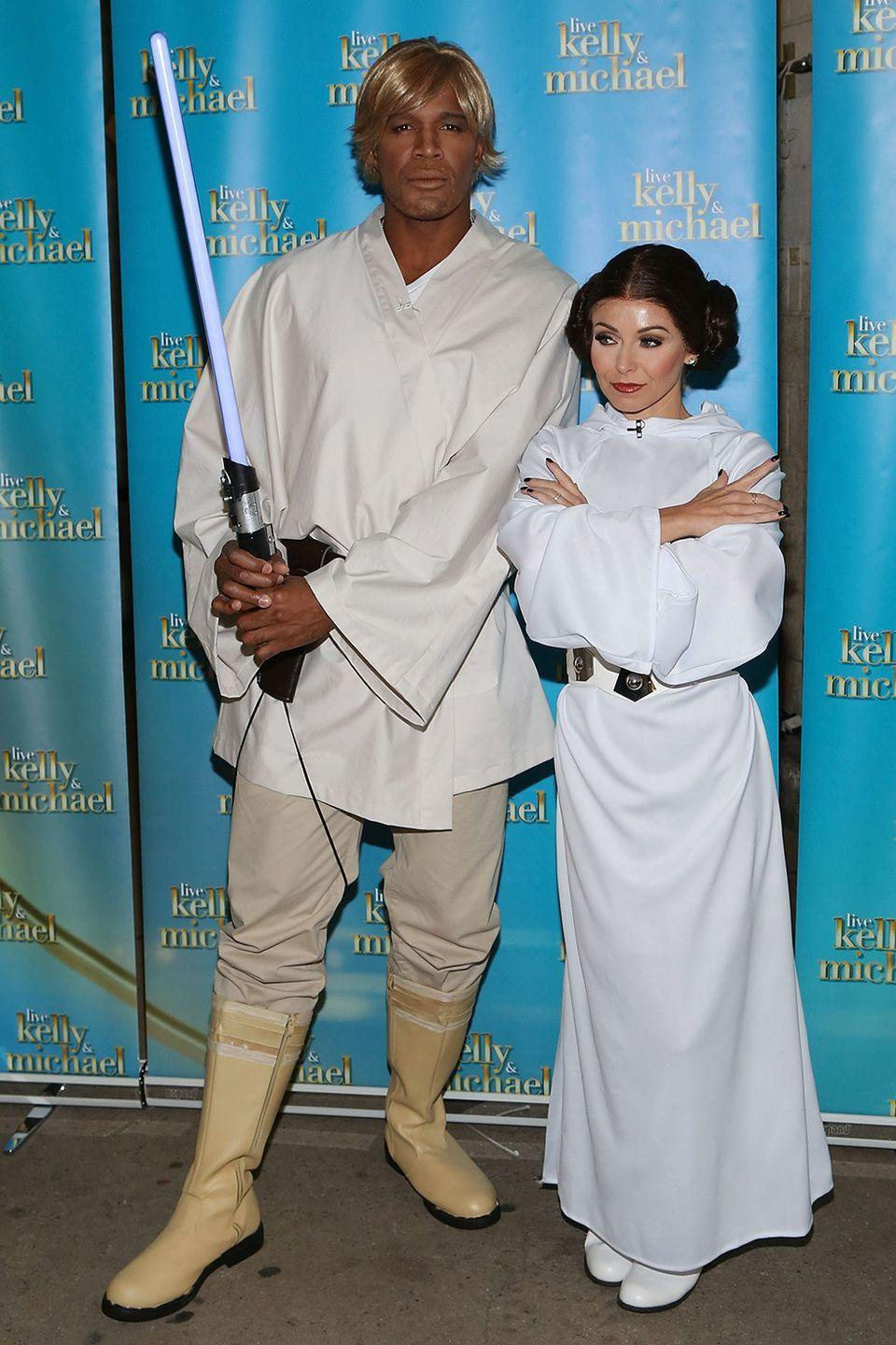 <p>Kelly and Michael were at it again in 2015, dressed up as Luke Skywalker and Princess Leia. </p>